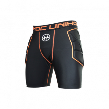 Unihoc Goalie Shorts Flow Black