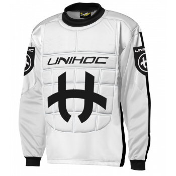 Unihoc Goalie Sweater Shield White/Black