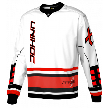 Unihoc Goalie Sweater Feather White/Red