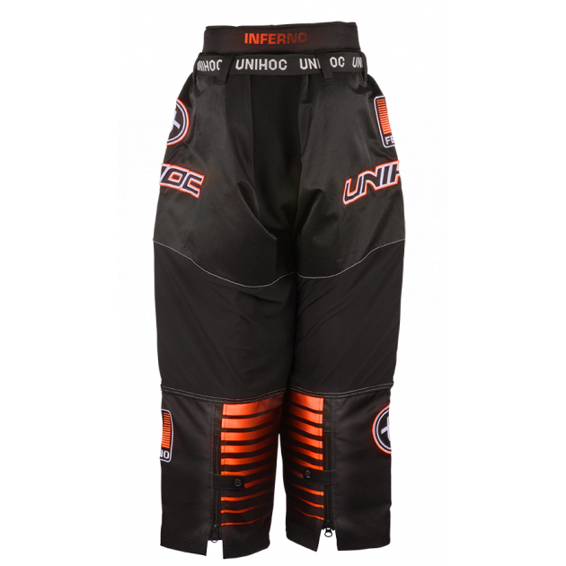 Unihoc Goalie Pants Inferno Black/Orange