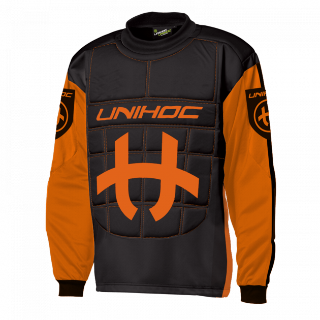 Unihoc Goalie Sweater Shield Neon Orange