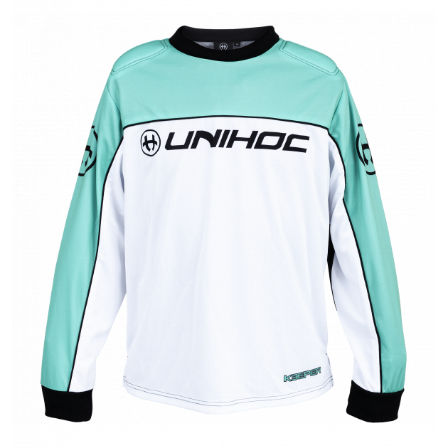 Unihoc Goalie Sweater Keeper Turquoise/White