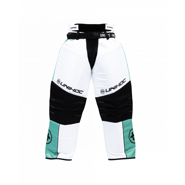 Unihoc Goalie Pants Keeper Turquoise/White