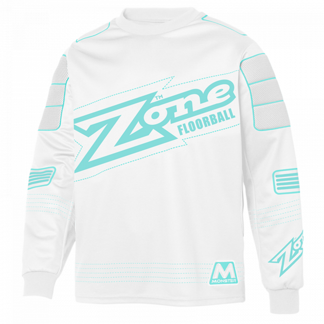 Zone Goalie Sweater Monster White/Light Turquoise
