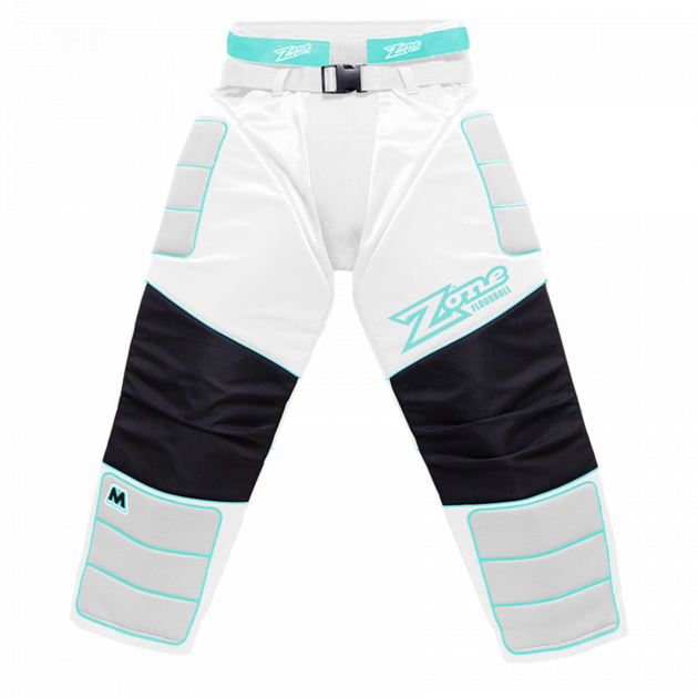 Zone Goalie Pants Monster White/Light Turquoise