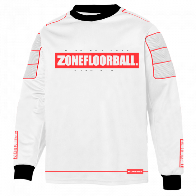 Zone Goalie Sweater Monster2 White/Red